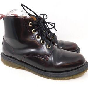 Dr. Martens Emmeline Leather Combat Boots 7 US